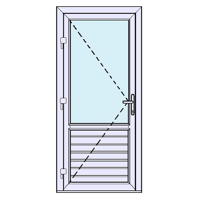 Achterdeur met onderpaneel