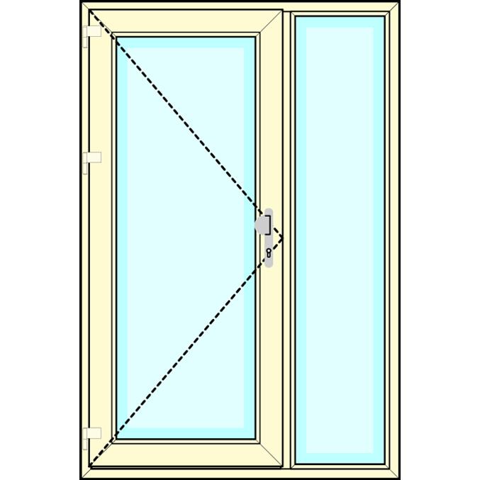 Huisdeur met zijlicht vastglas
