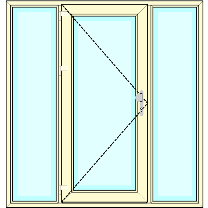 Huisdeur met zijlichten vastglas