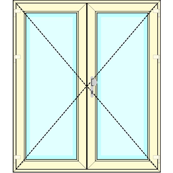 Huisdeur 2-delig