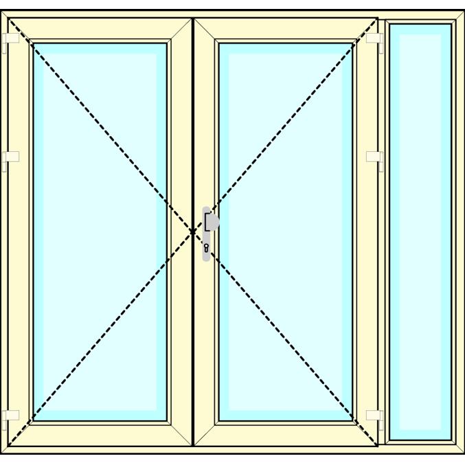 Huisdeur 2-delig met zijlicht vastglas
