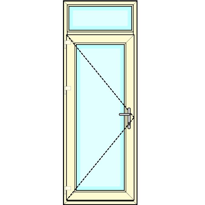 Achterdeur met bovenlicht vastglas