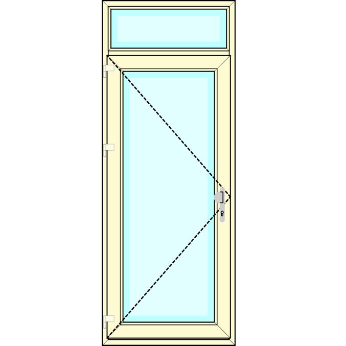 Huisdeur met bovenlicht vastglas