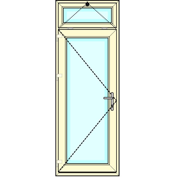 Achterdeur met bovenlicht kiep
