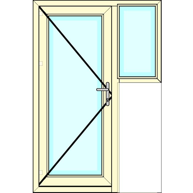 Achterdeur ( vlag ) met vast zijlicht