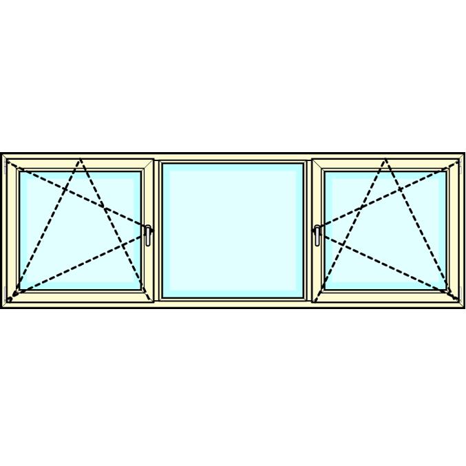 2 - delig Draaikiep middenveld vastglas